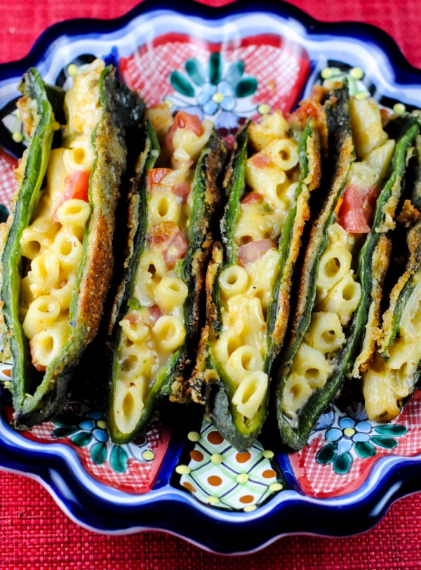 Mac and Cheese Chile Rellenos Recipe from Stuffed: The Ultimate Comfort Food Cookbook