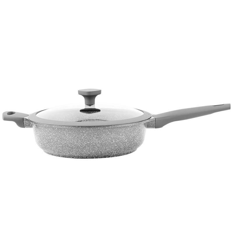 sauteuse fonte d aluminium 28cm modele vertu st28tfi kitchencook