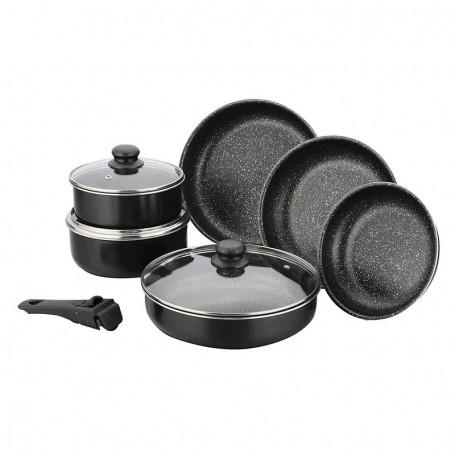 batterie de cuisine aluminium 10 pieces modele flex de kitchencook