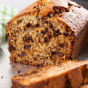 Moist Yet Fluffy Chocolate Chip Banana Bread.