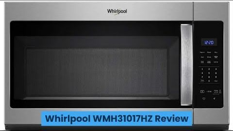 whirlpool wmh31017hs 1 7 cu ft over the range microwave oven