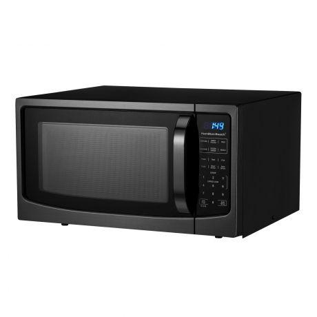hamilton beach viprb p11043alh wtb 1 6 cu ft black stainless steel digital microwave oven