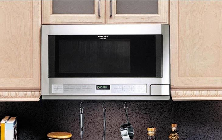 sharp r1214 carousel 1 5 cu ft over the counter microwave oven