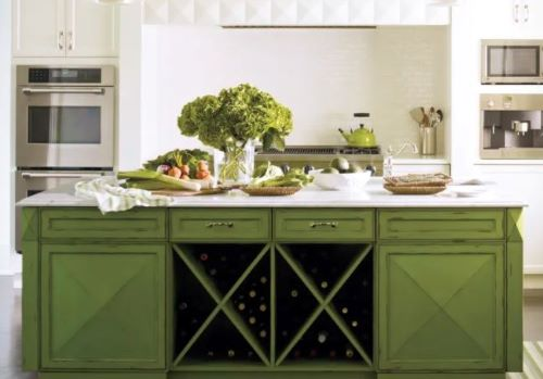green is a kitchen cabinet color trend 2021