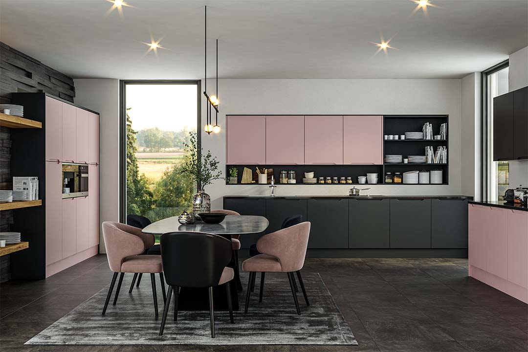 Traditional - Integra Full Handle Option - Matt Blush Pink