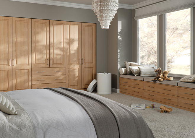 Tuscany Super White Ash Bedroom Doors