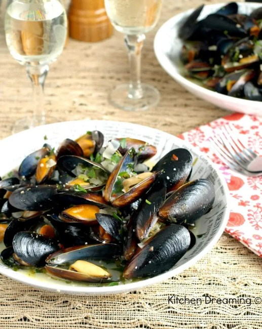Mussels are sweeter than clams and readily take on the flavor of the broth they are cooked in.