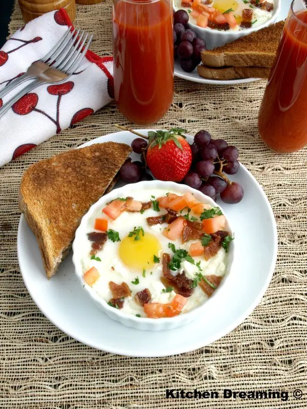 Creamy grits with Goat Cheese and Eggs is flavorful and delicious.
