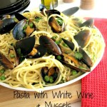 Pasta with White Wine & Mussels is a quick and easy go to meal for lunch or dinner. Mussels are inexpensive so this meal wont cost you at the register.