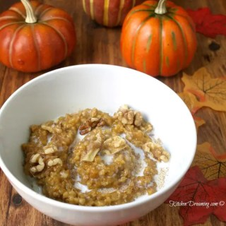 Crock Pot Overnight Oatmeal is simple to prepare and cooks while you sleep! Perfect for quick work day meals, lazy weekends or busy Holiday mornings!