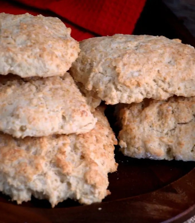 Close up photo of homemade biscuits