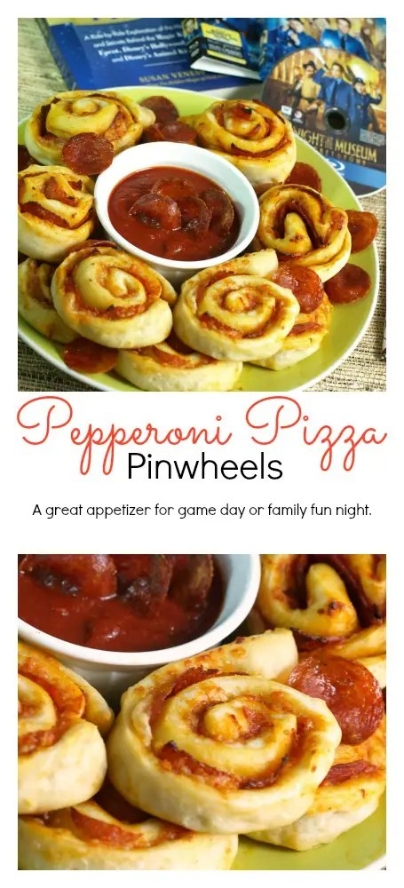 These Pepperoni Pizza Pinwheels are pretty quick to assemble and can be made in advance of your party or event. Then just bake them off as needed.