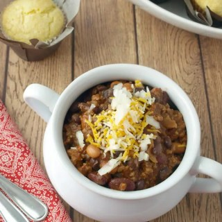 3 Bean Beef Chili is hearty and filling. We have several variations to chose from as well.