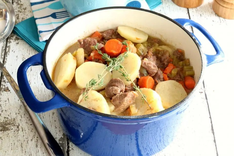 A pot of traditional Irish Stew