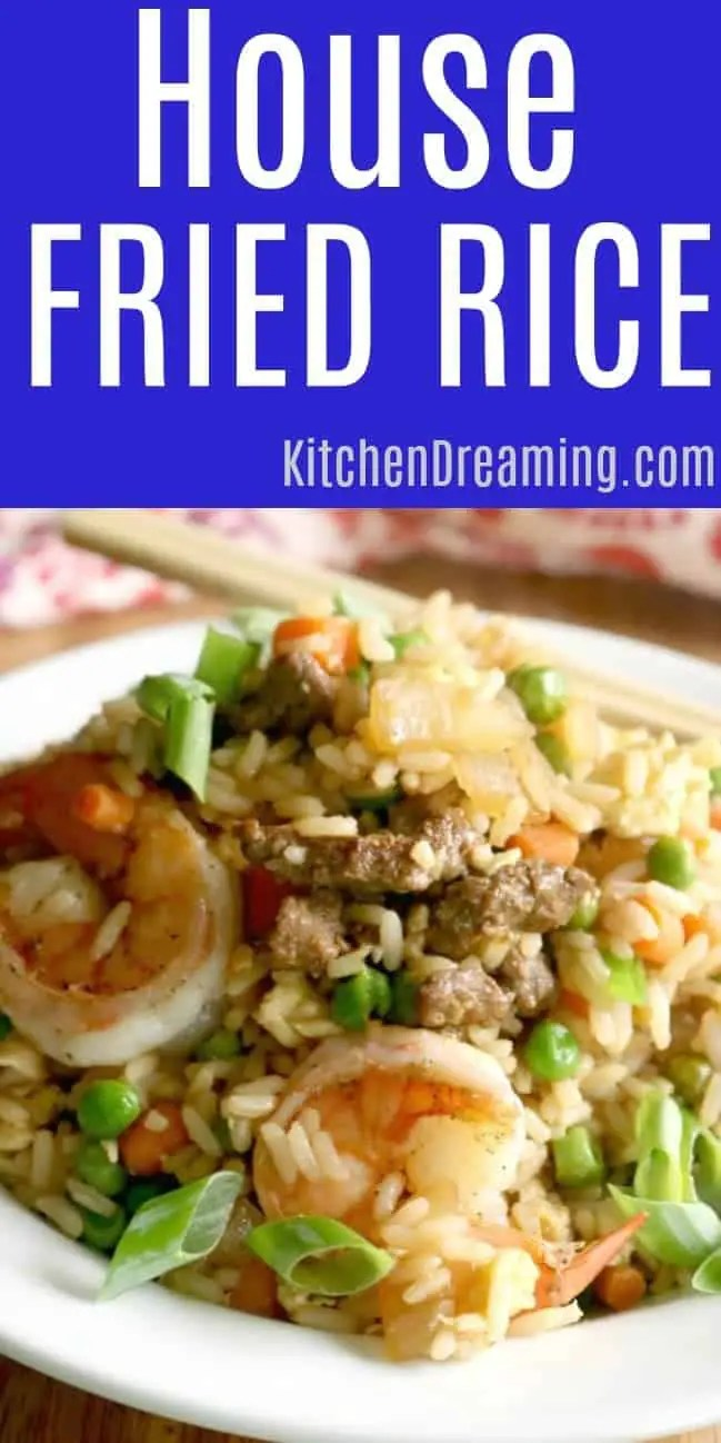 a bowl of house fried rice.