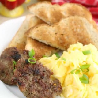 Making Homemade Breakfast Sausage is simple with ingredients already in your pantry! No need to grind your own meat! They're also freezer-friendly, MSG, preservative and gluten-free!