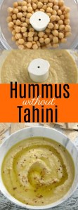 Hummus is a quick and healthy snack but can be expensive. This Hummus without Tahini is creamy and smooth and won't break the bank!#Hummus #without #tahini #Medeterranian #Recipe