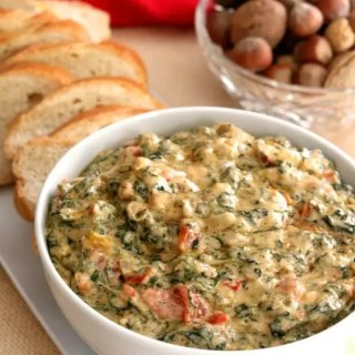 Hot and cheesy, goey and melty, Hot Spinach Dip is the perfect appetizer.