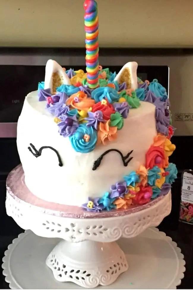 Finished Mystical Rainbow Unicorn cake. #Kids #Birthday #Party #Ideas