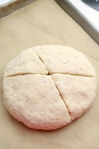 Cut a slit into the dough to allow steam to escape