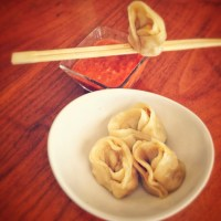 Veggie Momos with Spicy Garlic Chutney - Tibetan Delicacy