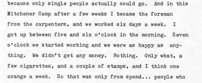 Kitchener camp, Walter Brill, notes