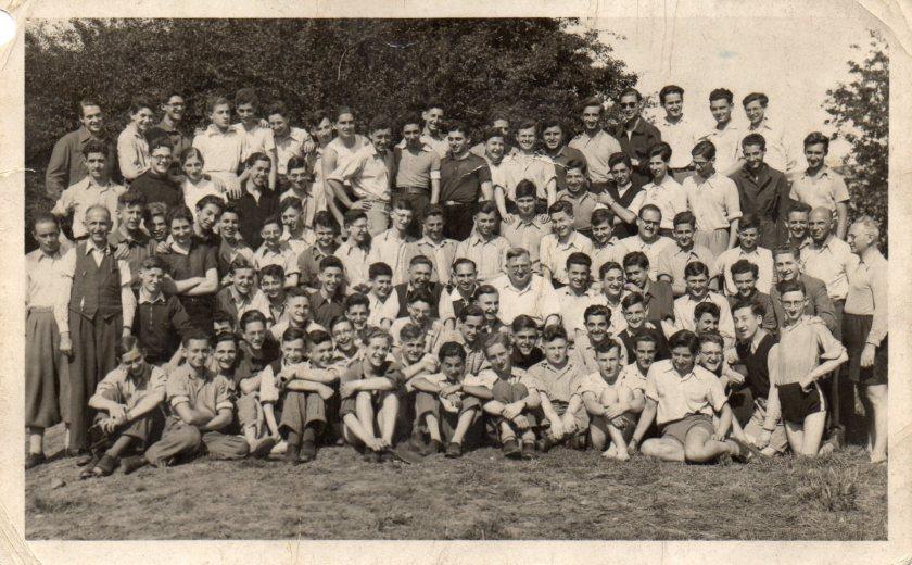 Berlin ORT boys at Kitchener camp, 1939