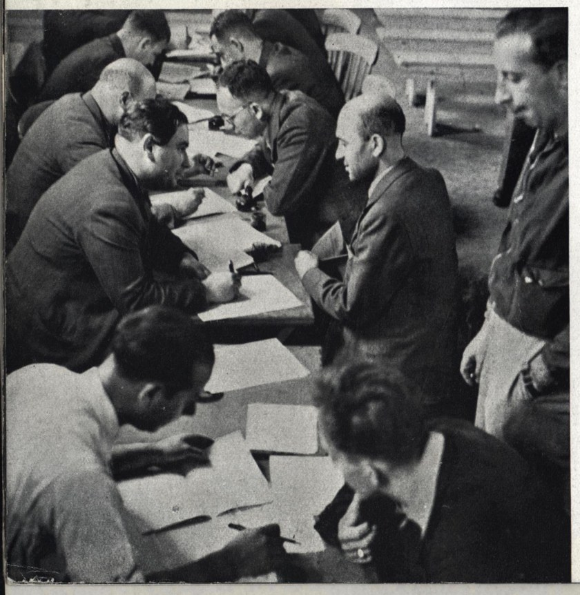Richborough transit camp, Some Victims, 1939 - Writing letters home