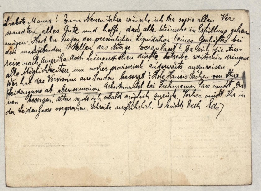 Eduard Elias, Dachau letter, 31 December 1938_002