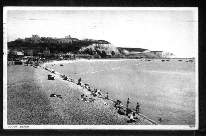 Werner Gembicki, Kitchener camp, Postcard, Dover beach