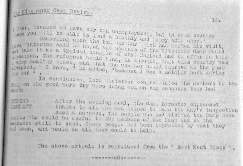 Kitchener Camp Review, June 1939, page 16, top