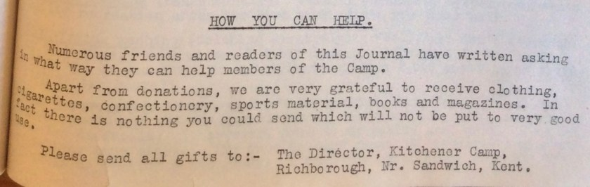 The Kitchener Camp Review, July 1939, No. 5, page 15, base