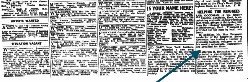 Published: Thursday 18 May 1939, Newspaper: The Era, County: London, England, Type: Article | Words: 347 | Page: 10 | From the BritishNewspaperArchive.co.uk