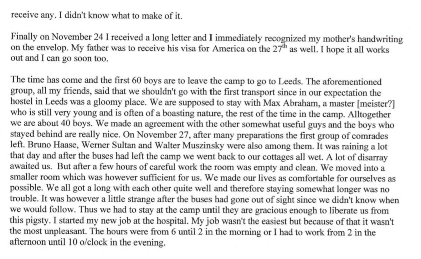 Kitchener camp, Diary, Gerhard Wolf, Berlin ORT, page 7