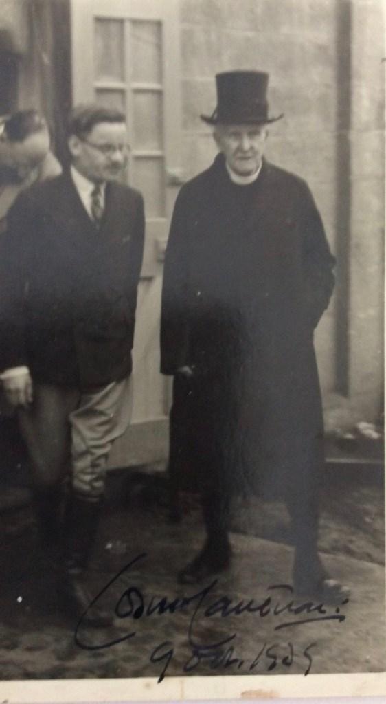 Kitchener camp, Julius Gildener, Photograph of Director Jonas May and visiting Archbishop of Canterbury Cosmo Lang