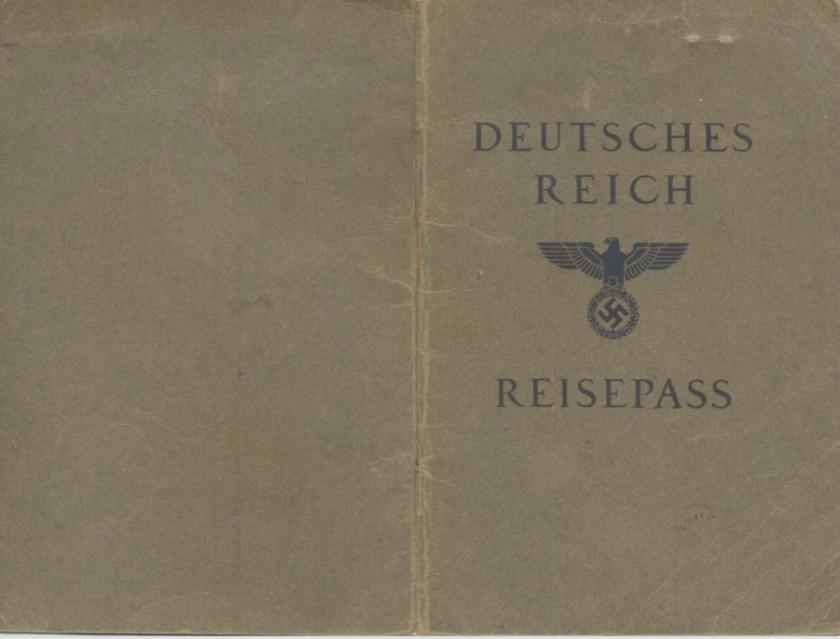 Kitchener camp, Frank Schanzer, German passport, cover