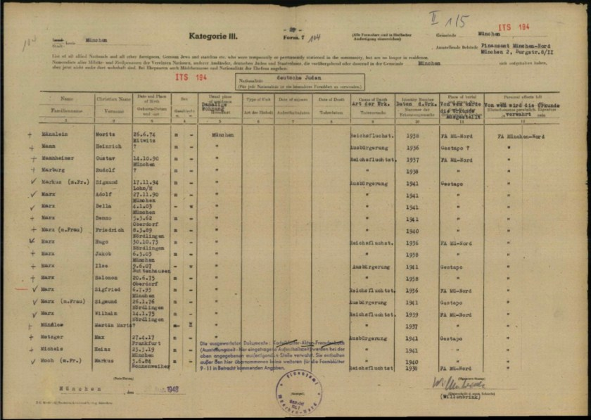 Kitchener camp, Richborough, Max Metzger, ITS Documents from the Wiener Library - Germans living outside Germany on 25 November 1941 were made stateless