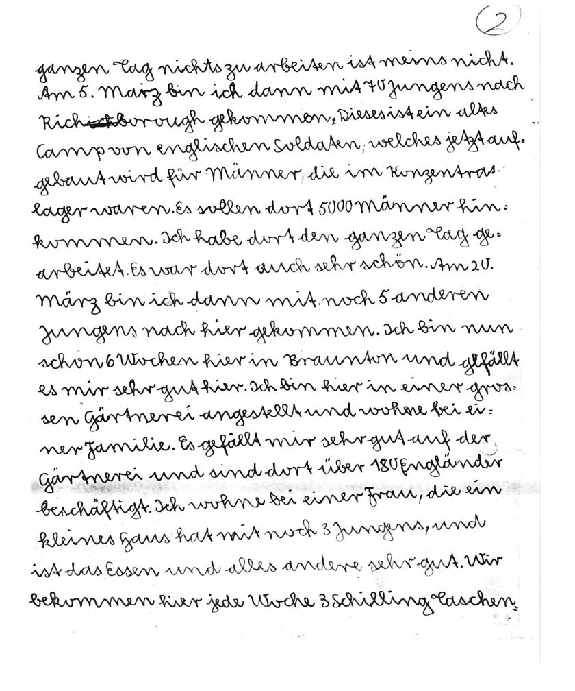 Kitchener camp, Alfred Meyer, Letter, 7th May 1939, page 2