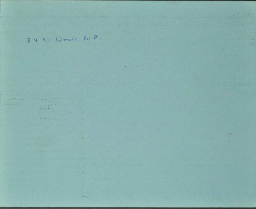 Kitchener camp, Ernst Desiatnik, Leaving card, German Jewish Aid, reverse