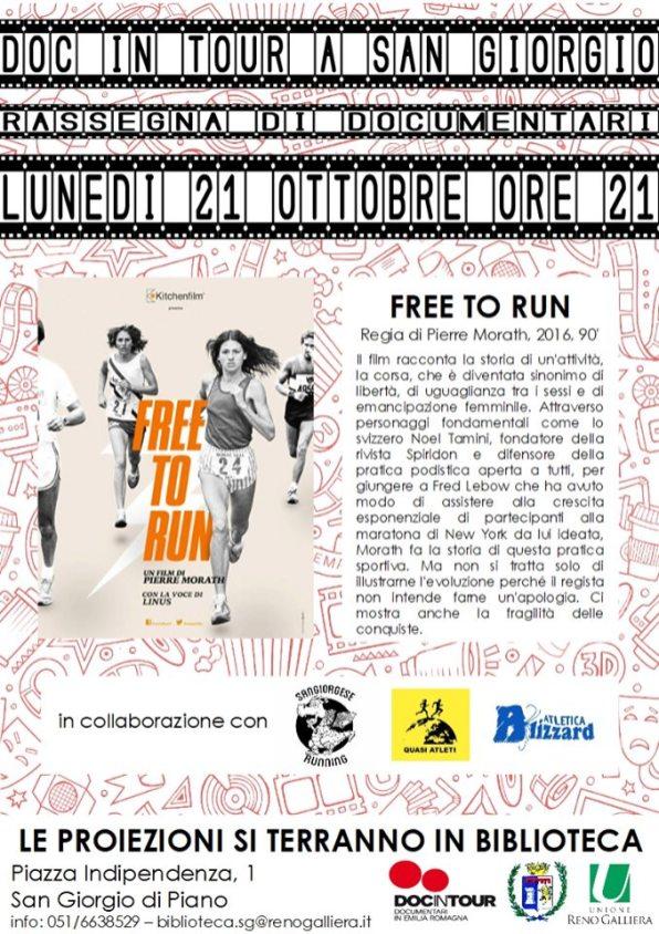 Locandina Rassegna Free To Run