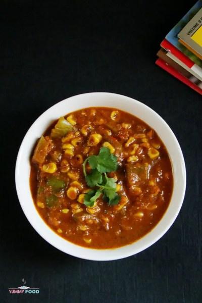 Corn Capsicum Masala Curry
