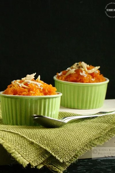 Microwave Gajar Ka Halwa   Carrot Halwa & Giveaway