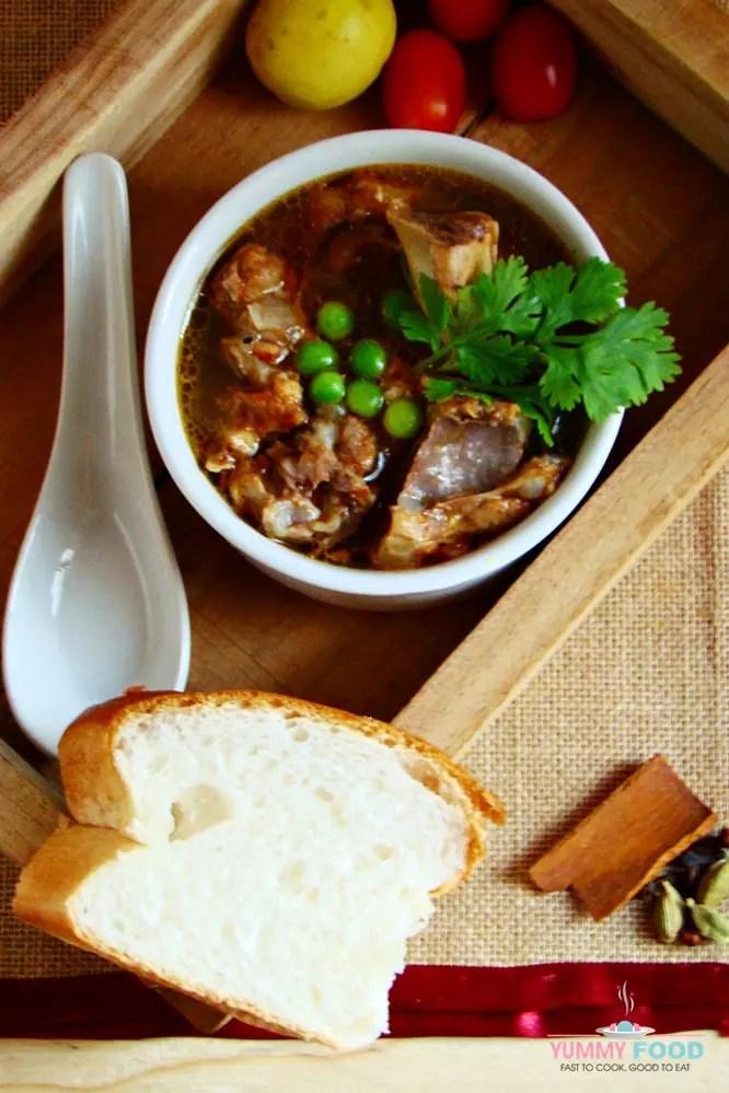 Lamb Shorba with Peas
