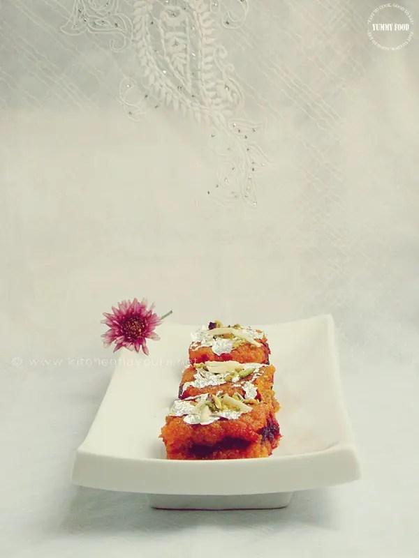 Layered Beetroot-Carrot Halwa/Burfi/Fudge – Pressure Cooker Method