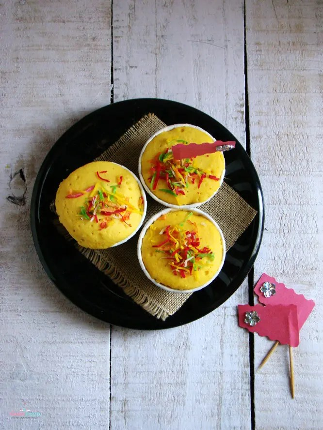 Microwave Eggless Muffins