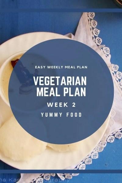 Week 2 – Weekly Vegetarian Meal Plan
