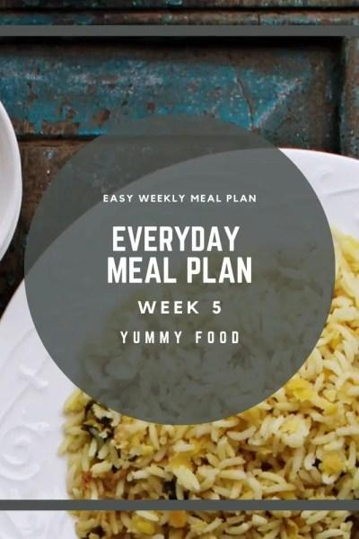 Week 5 – Everyday Meal Plan