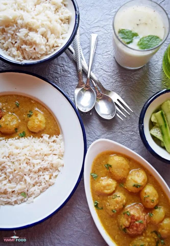Minty Potato Curry