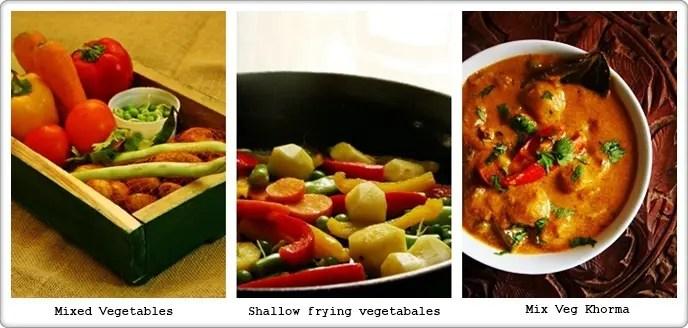 Mix veg khorma recipe in making