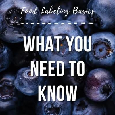 Food Labeling Basics